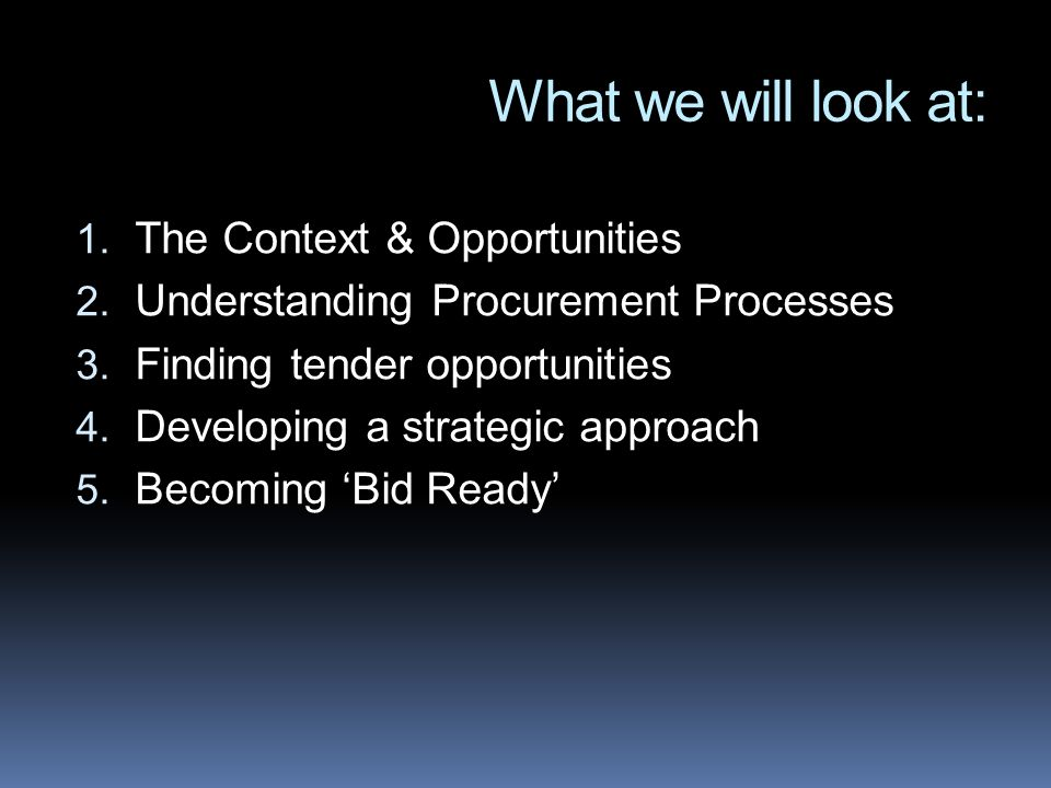 What we will look at: 1. The Context & Opportunities 2.