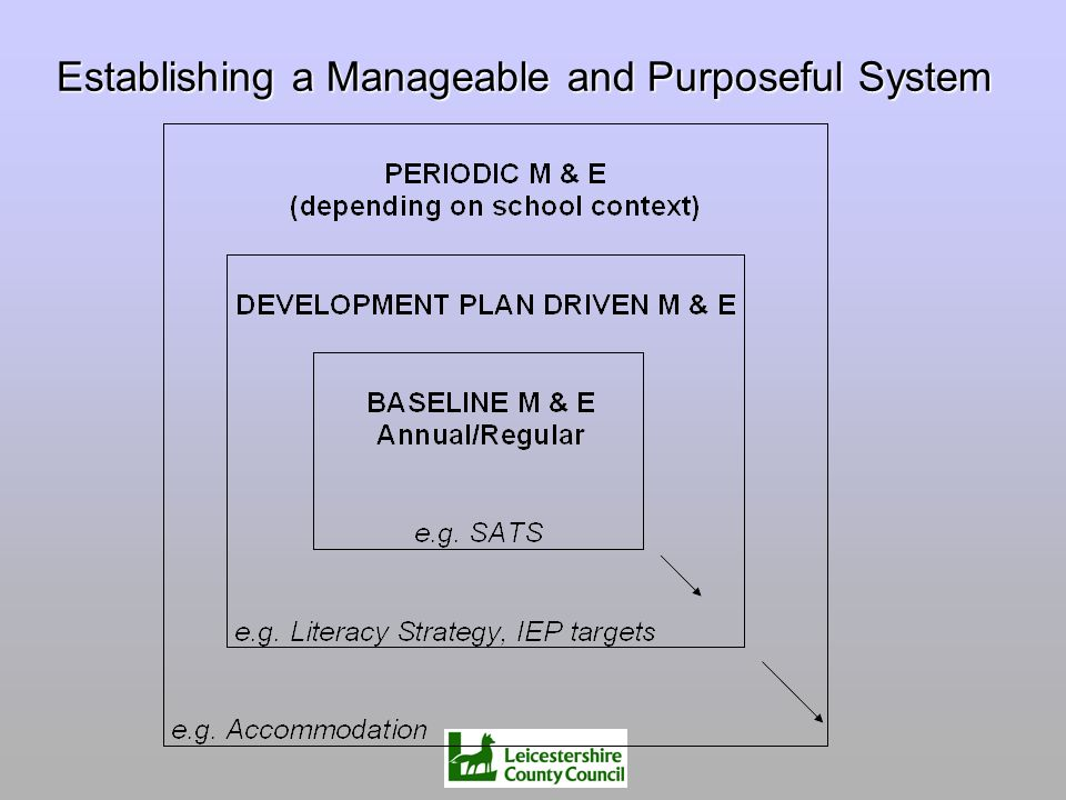 Establishing a Manageable and Purposeful System