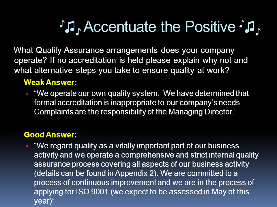 What Quality Assurance arrangements does your company operate.