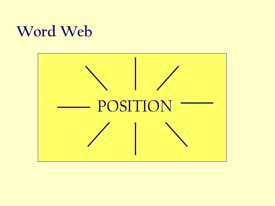 Word Web POSITION