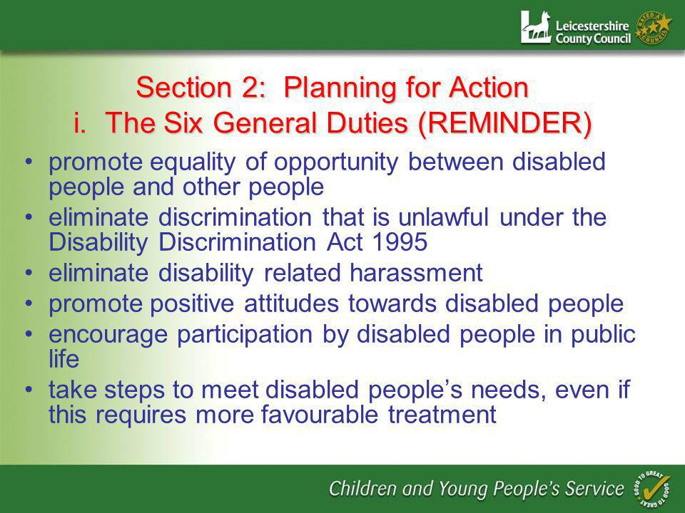 Section 2: Planning for Action i.