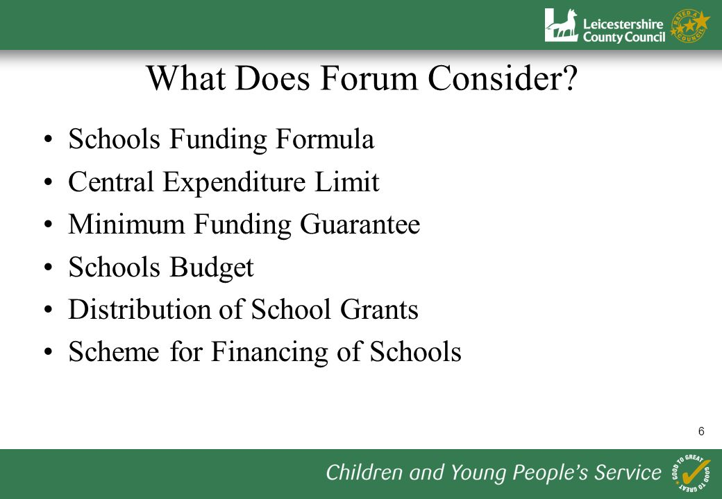 6 What Does Forum Consider.