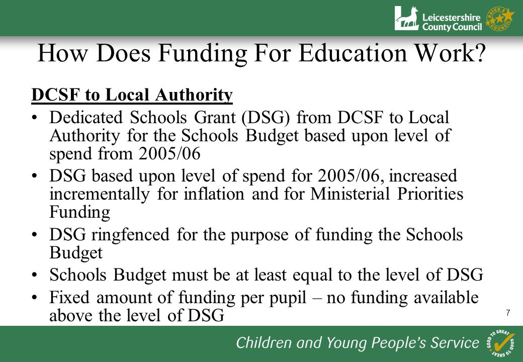 8 How Does Funding For Education Work.