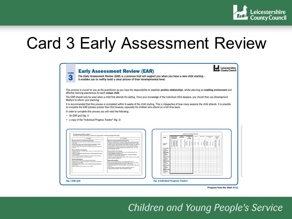 Card 3 Early Assessment Review