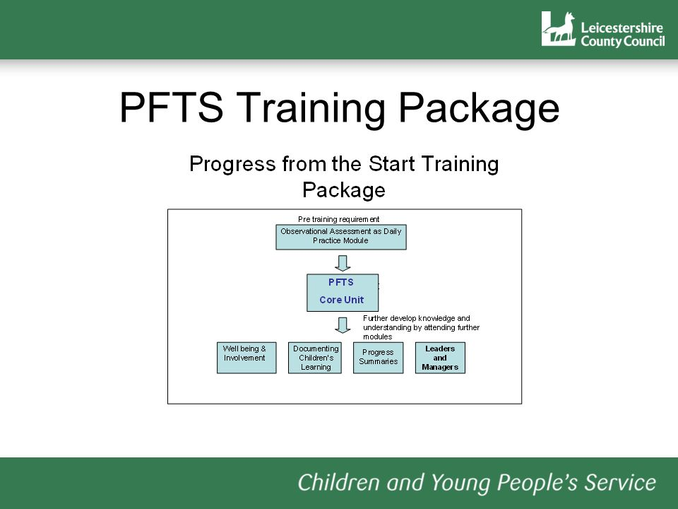 PFTS Training Package