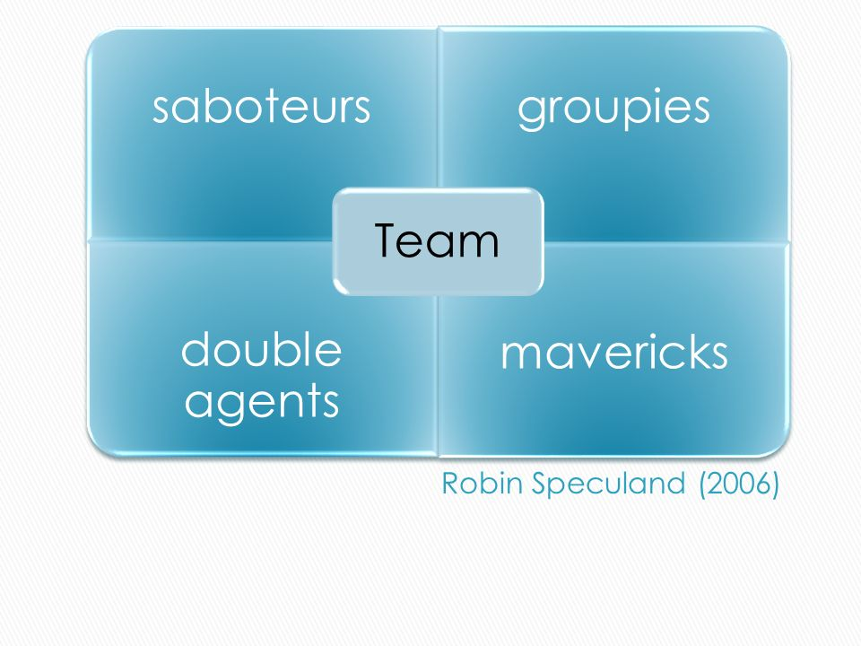 saboteursgroupies double agents mavericks Team