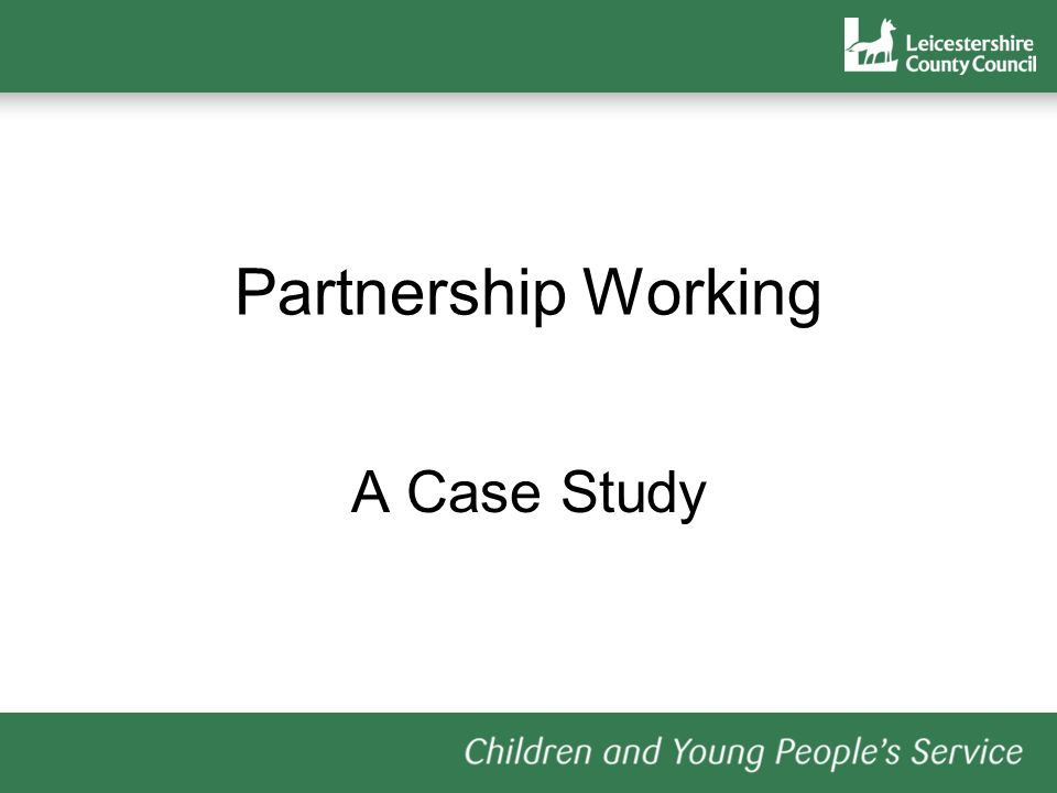 Partnership Working A Case Study