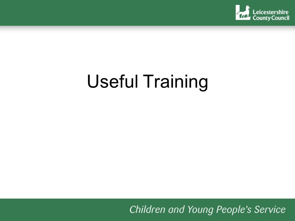 Useful Training