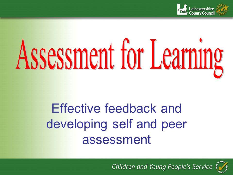 Developing assessment for learning is not about adding a collection of teaching strategies into an existing repertoire.