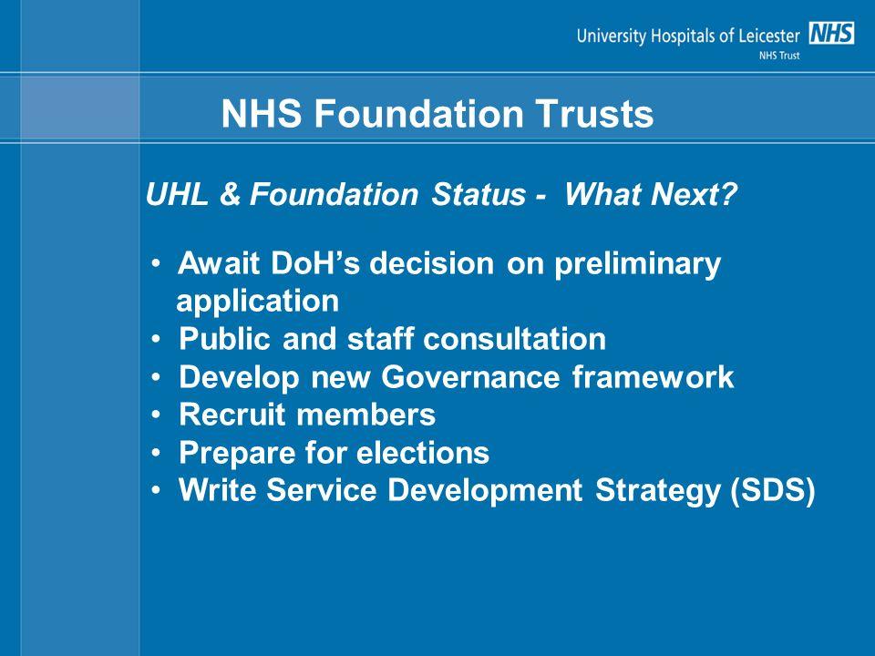 NHS Foundation Trusts UHL & Foundation Status - What Next.