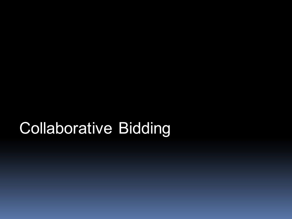 Collaborative Bidding