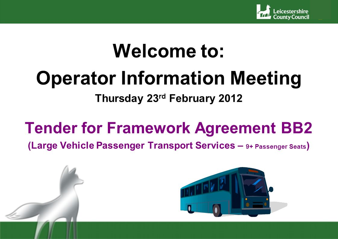 The Tender Form Question 3.5 – Operational Quality How will you ensure drivers are aware of the individual needs of the passengers and the route, particularly if having to cover a regular driver who is unavailable What customer care training have your drivers had and to what standard Do you have a route learning programme Do you draw up route cards etc.