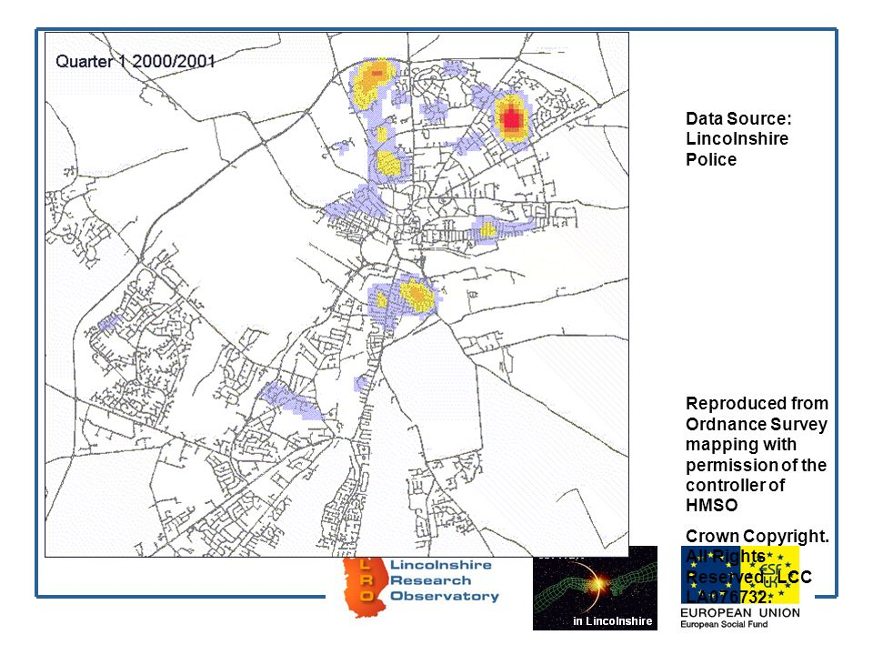 Data Source: Lincolnshire Police Reproduced from Ordnance Survey mapping with permission of the controller of HMSO Crown Copyright.