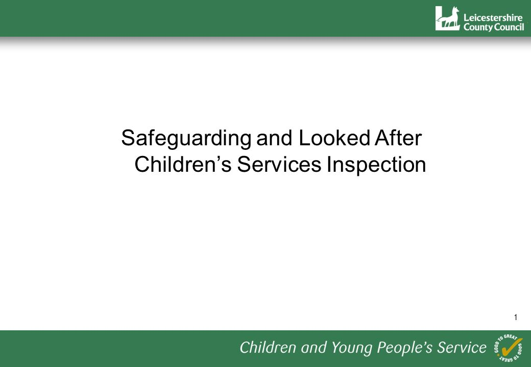 1 Safeguarding and Looked After Childrens Services Inspection
