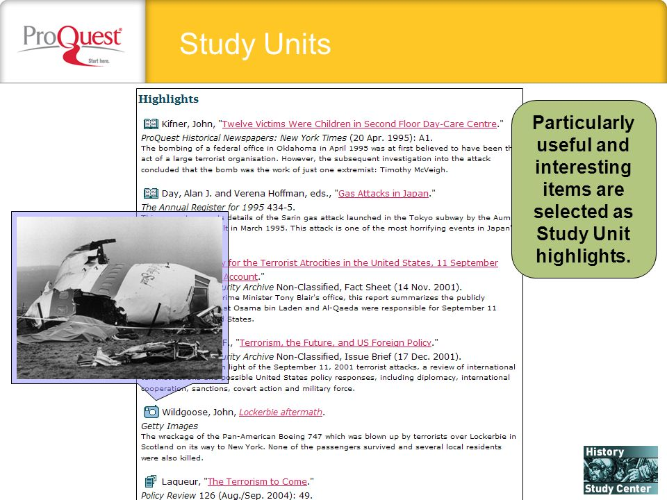 Study Units Particularly useful and interesting items are selected as Study Unit highlights.