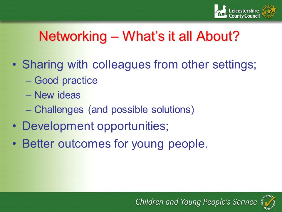 Networking – Whats it all About.