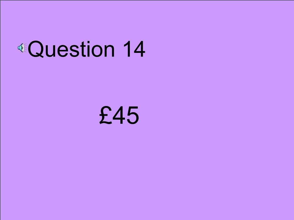 Question 13 50x19 49x20 4.9x1.9 1.9x50 5.9x20