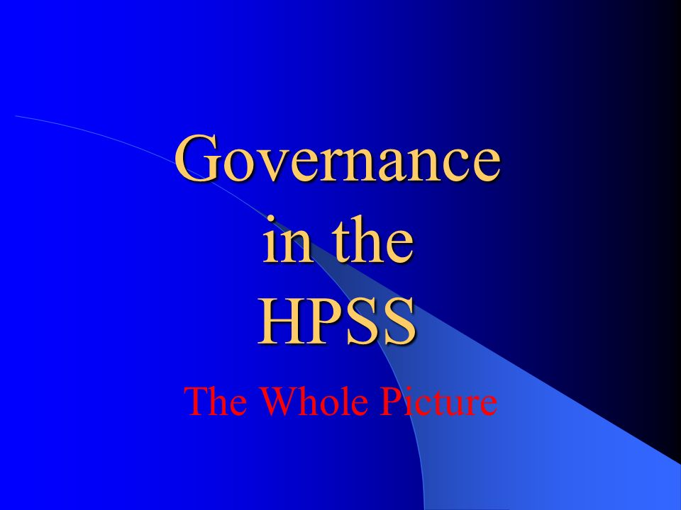 Controls assurance standards Supplement but do not replace the need for an organisation-wide system of risk management Designed to help HPSS bodies to provide evidence that they are doing their reasonable best to manage themselves so as to meet their objectives and to protect users, staff, the public and other stakeholders against risk of all kinds Will eventually provide the focus for a common approach to controlling key areas of potential risk and reporting on the effectiveness of those controls across the HPSS