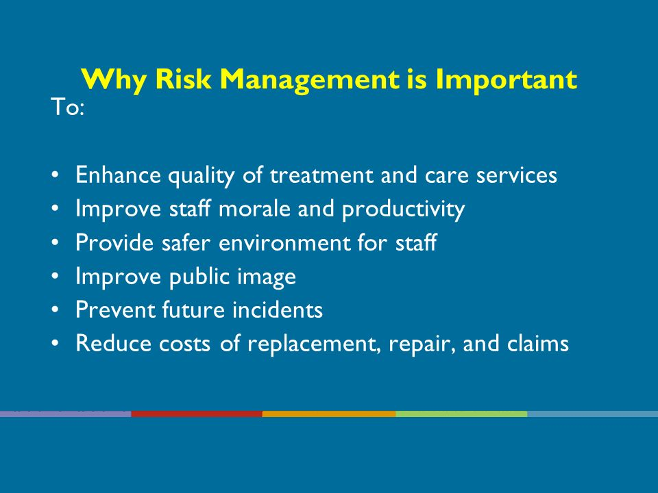 What is Risk Management? A process which involves planning, organisation and direction of a programme that will identify, assess and ultimately contro