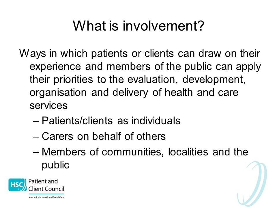 What is involvement.