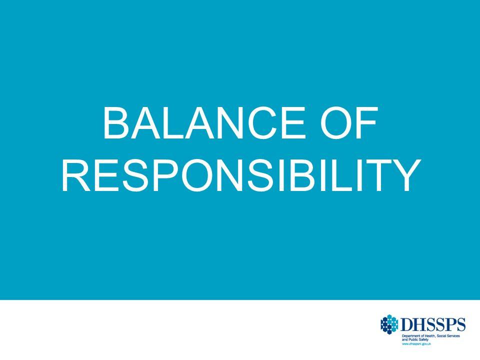 BALANCE OF RESPONSIBILITY