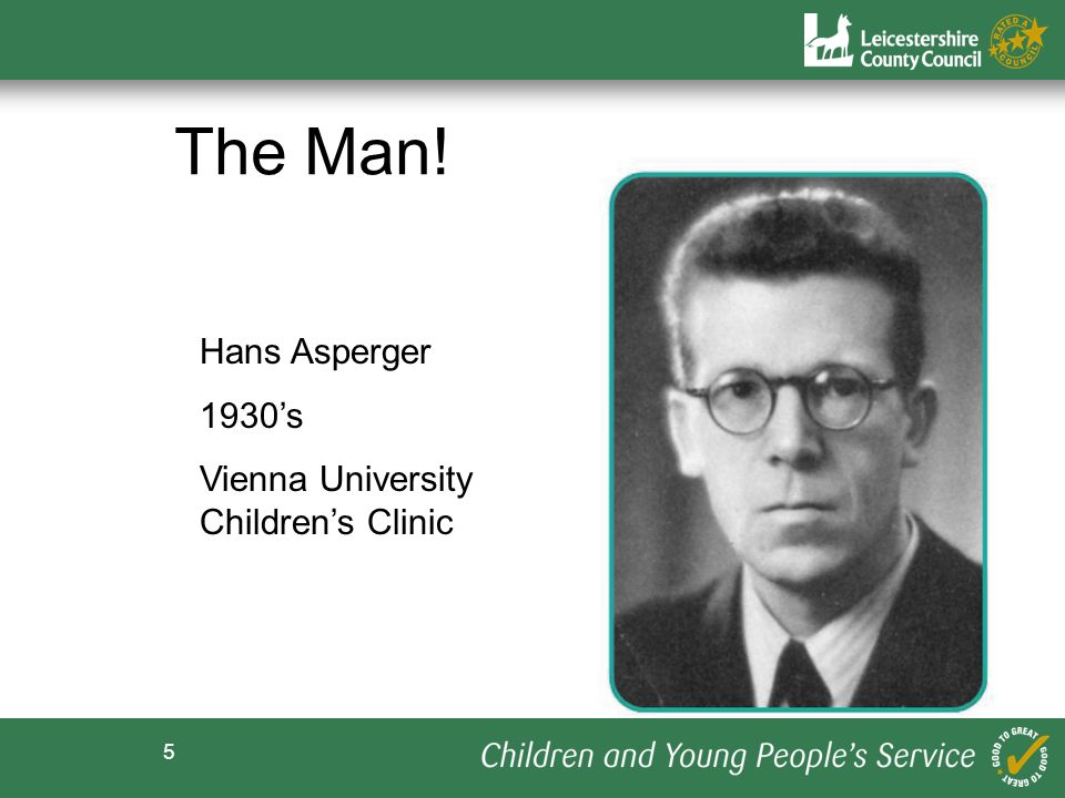 5 Hans Asperger 1930s Vienna University Childrens Clinic The Man!