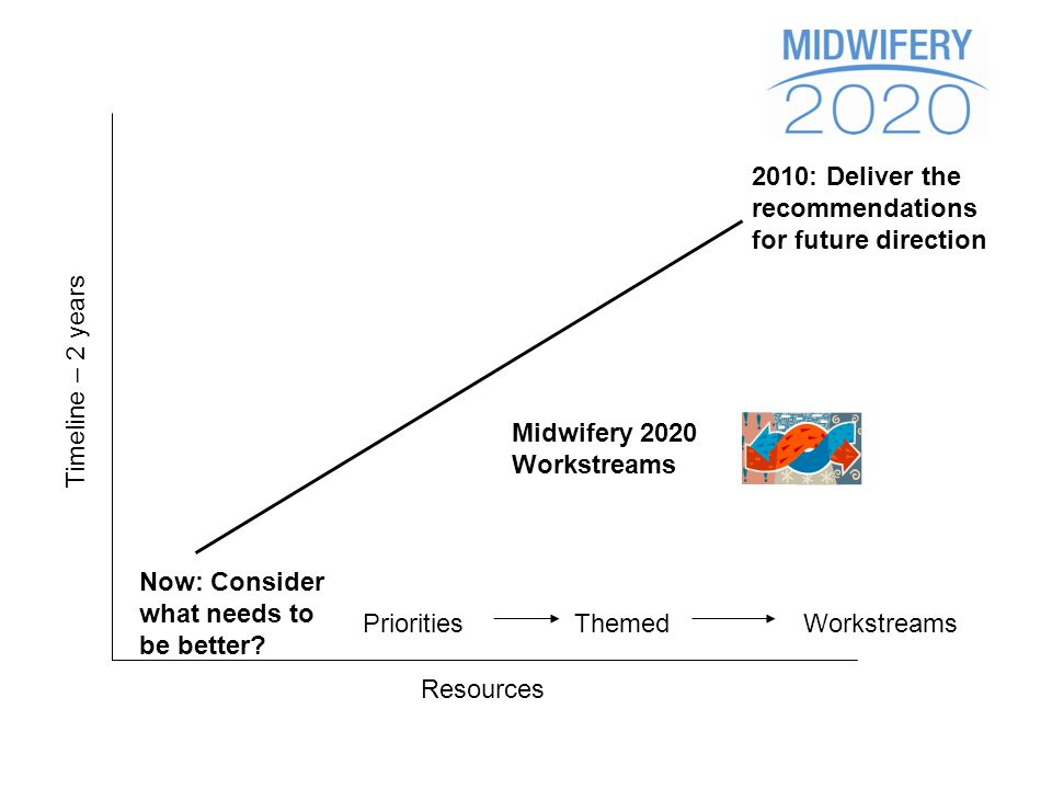 Timeline – 2 years 2010: Deliver the recommendations for future direction Resources Now: Consider what needs to be better.