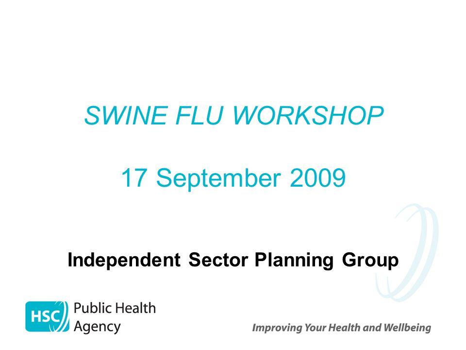 SWINE FLU WORKSHOP 17 September 2009 Independent Sector Planning Group
