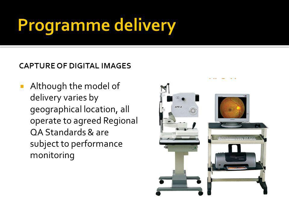 CAPTURE OF DIGITAL IMAGES Although the model of delivery varies by geographical location, all operate to agreed Regional QA Standards & are subject to performance monitoring