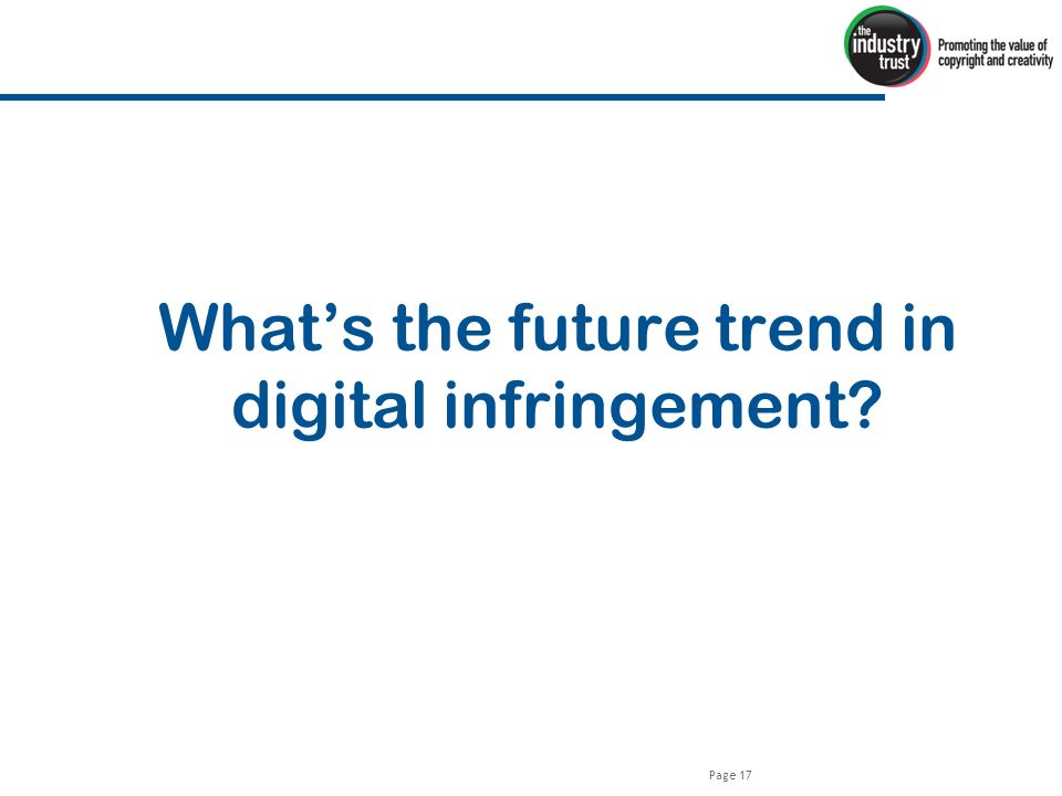 Page 17 Whats the future trend in digital infringement
