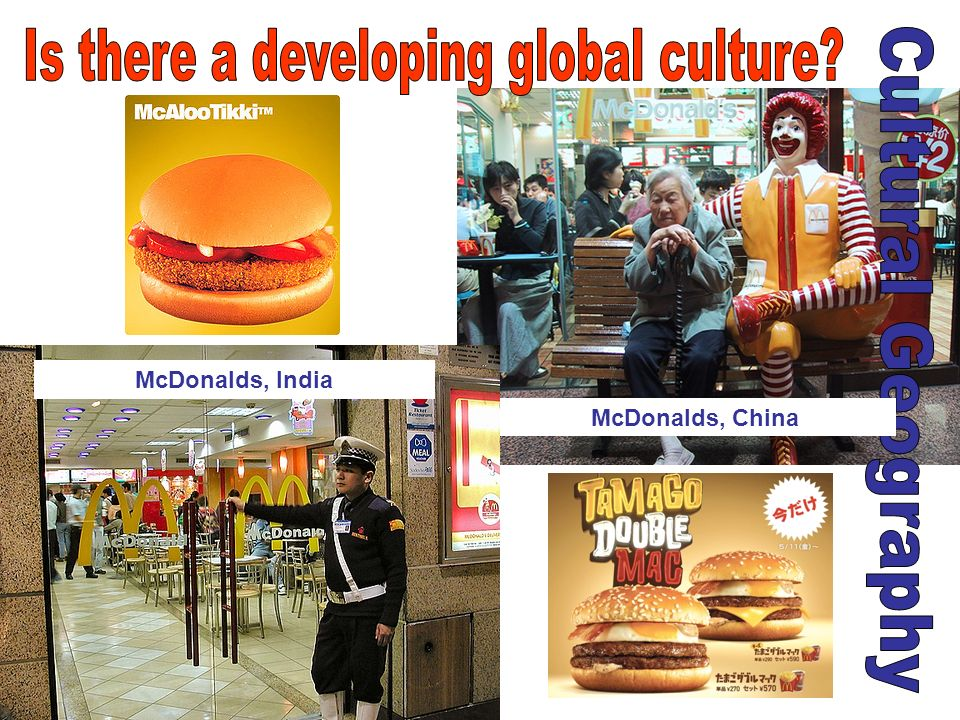 McDonalds, China McDonalds, India