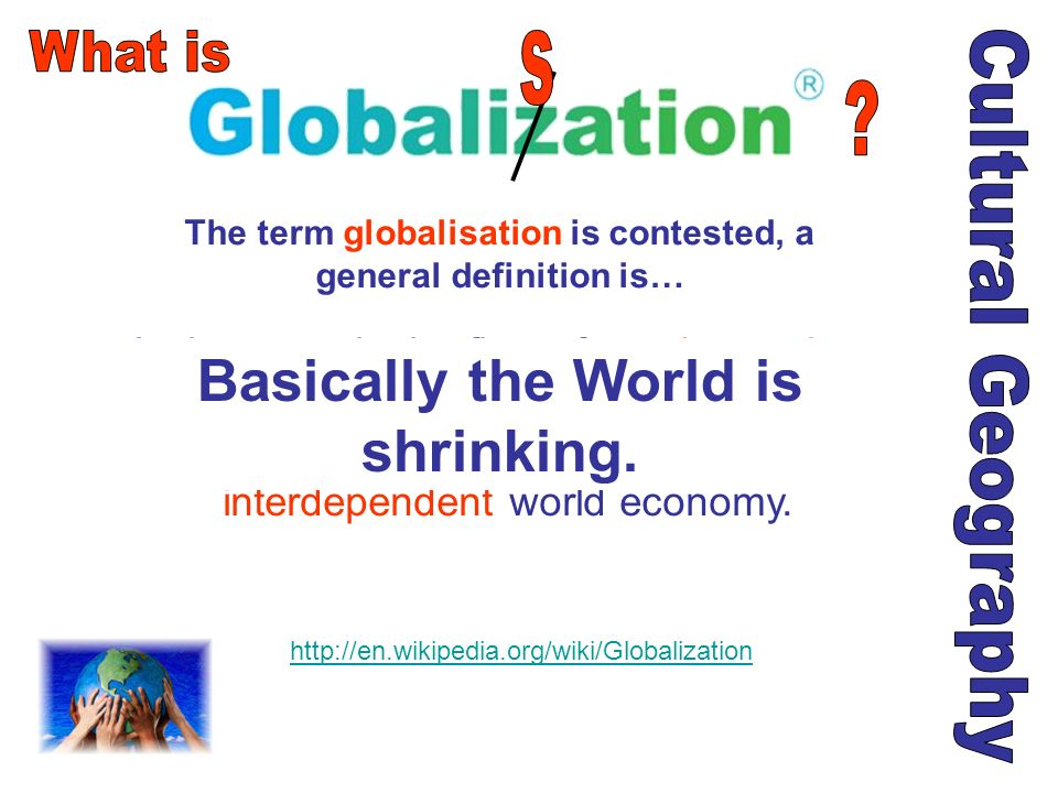 http://www.flickr.com/photos/romanlily/1257704249 / This has lead some people not to talk of a global culture, but a brand new world.