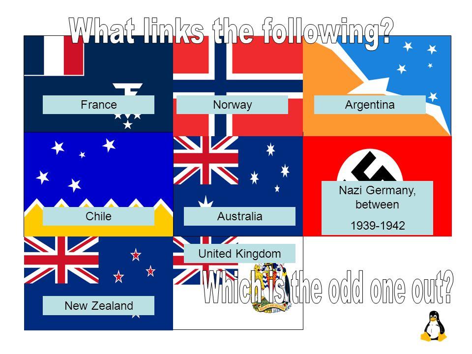 France United Kingdom Norway Nazi Germany, between 1939-1942 New Zealand AustraliaChile Argentina