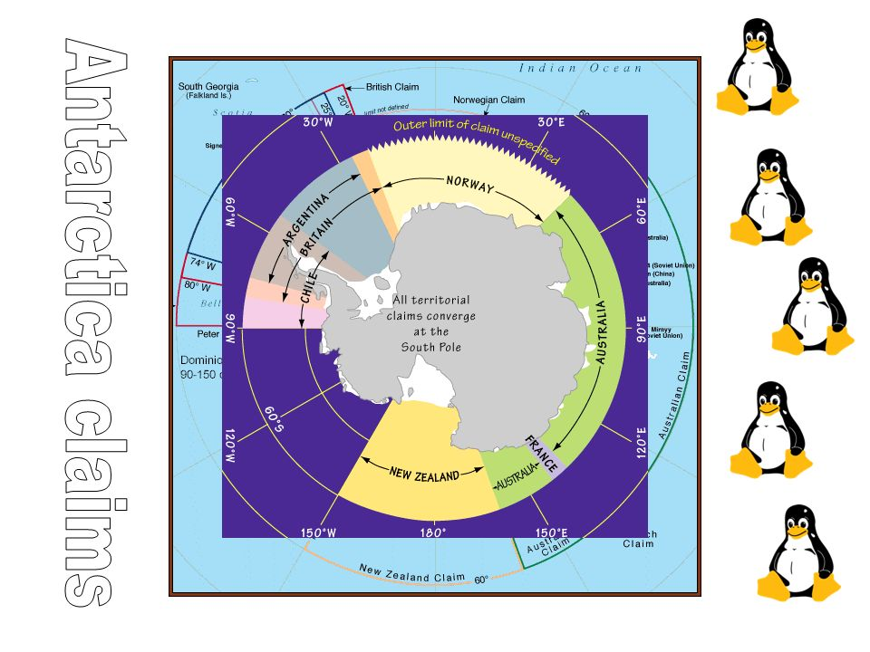 From the previous exercise you should have noticed that Antarctica is a contested continent.
