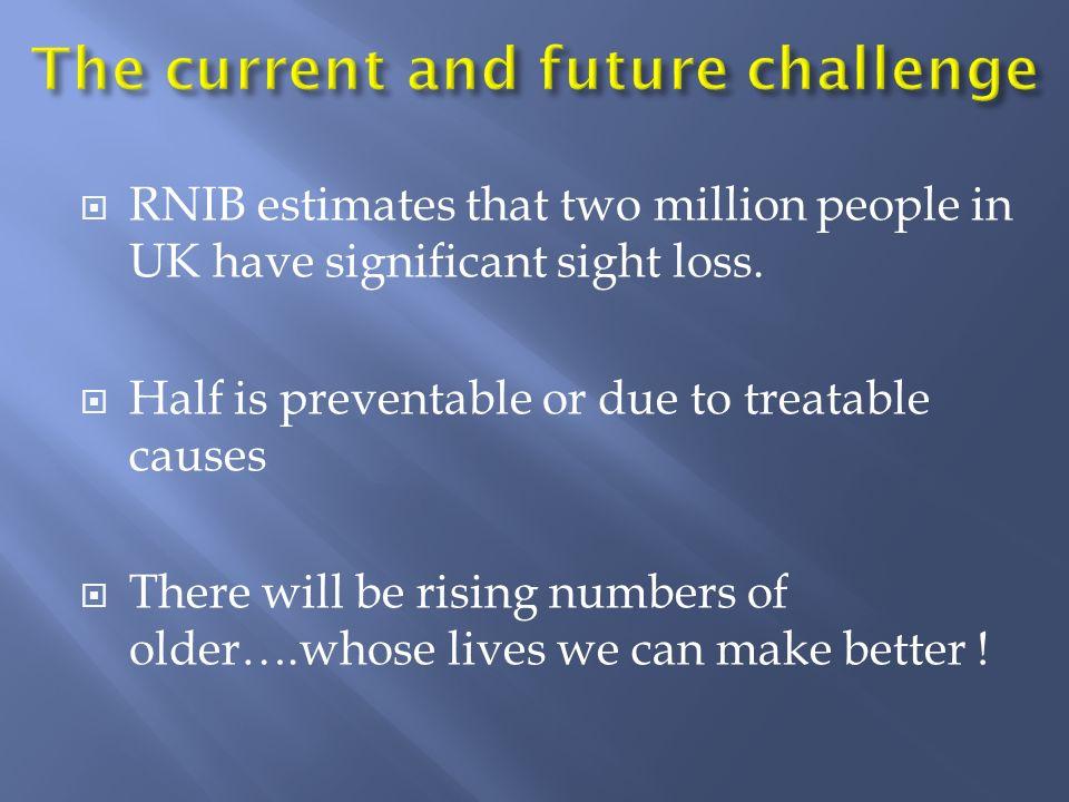 RNIB estimate total UK costs at £4.9 billion per year.