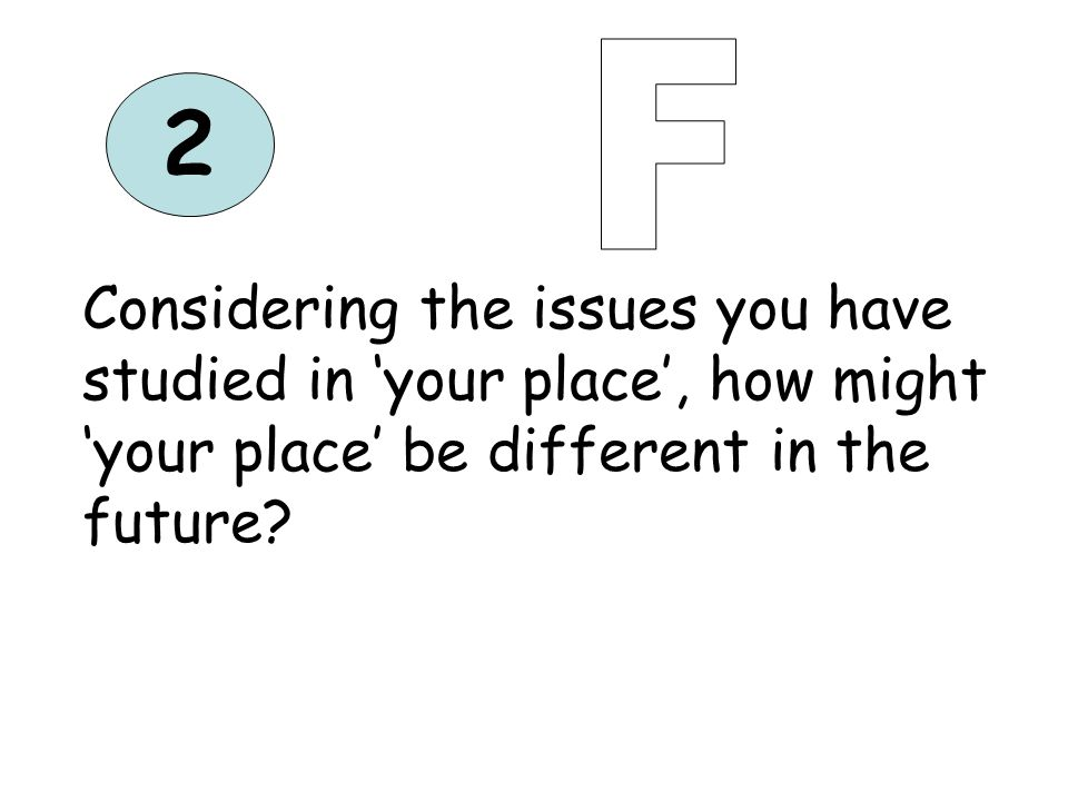 3 Considering the issues you have studied in your Extreme Environment, how might this environment be different in the future?