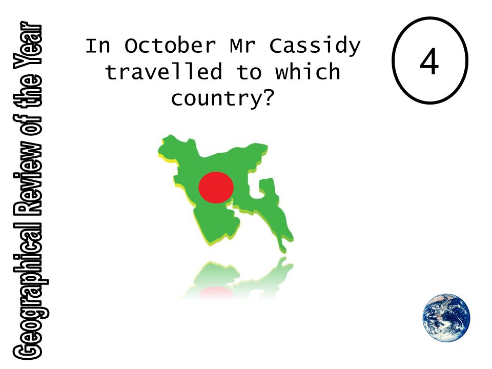 4 In October Mr Cassidy travelled to which country