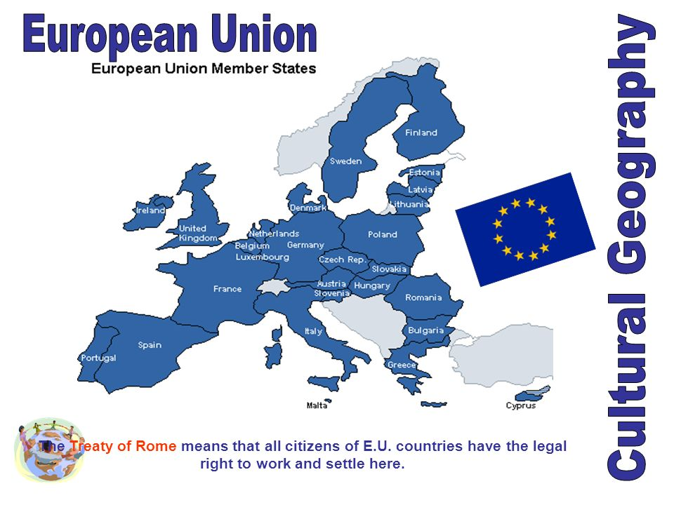The Treaty of Rome means that all citizens of E.U. countries have the legal right to work and settle here.