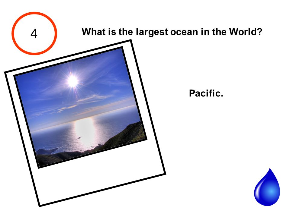 4 What is the largest ocean in the World Pacific.
