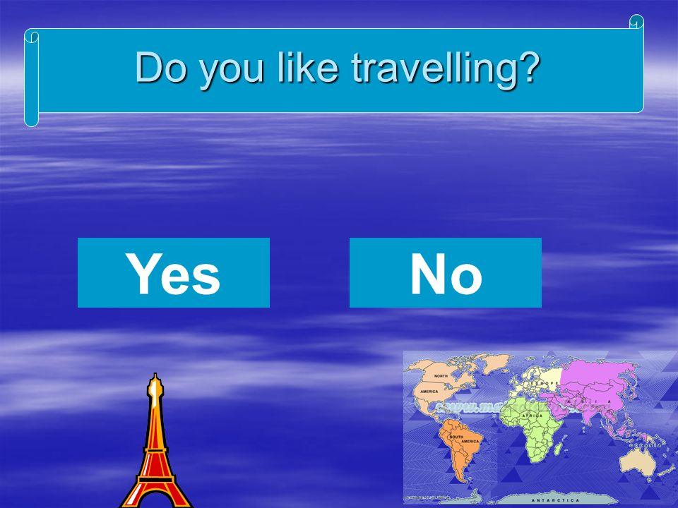 Do you like travelling YesNo