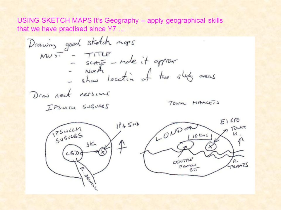 USING SKETCH MAPS Its Geography – apply geographical skills that we have practised since Y7 …