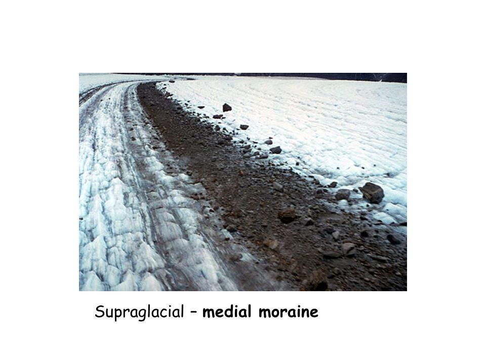 Supraglacial – medial moraine