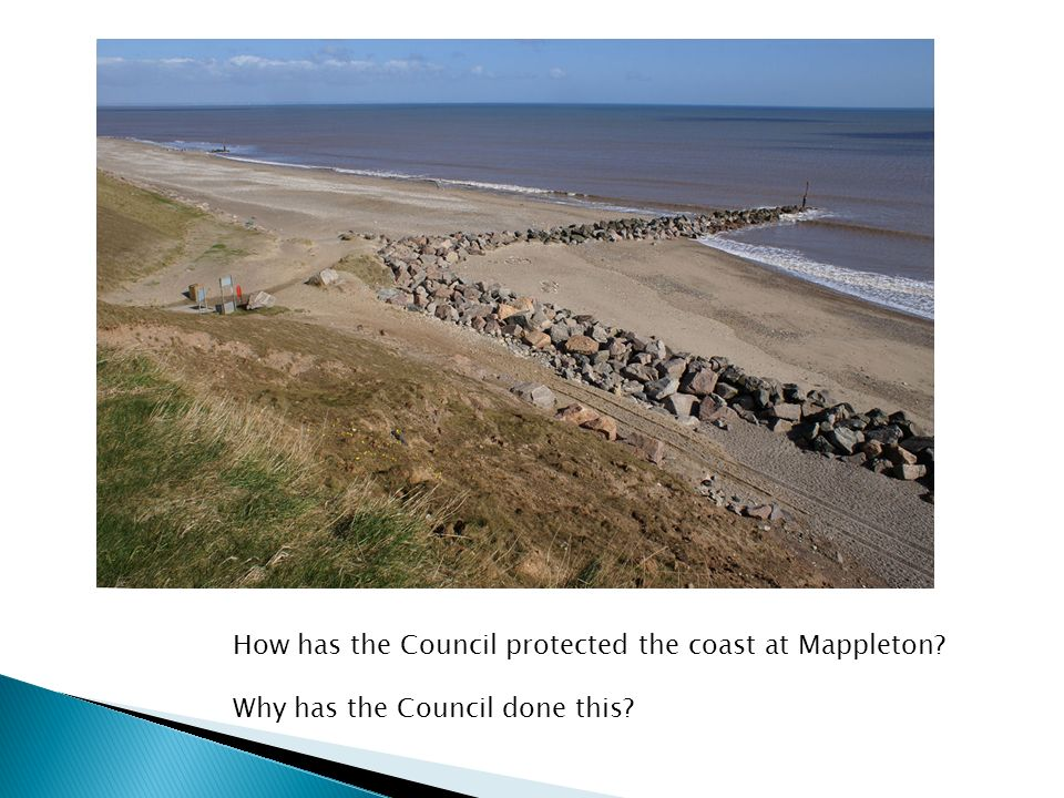 How has the Council protected the coast at Mappleton Why has the Council done this