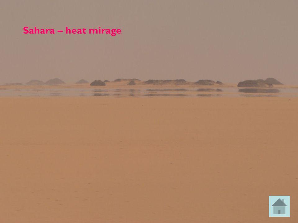 Sahara – heat mirage