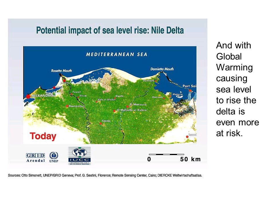 And with Global Warming causing sea level to rise the delta is even more at risk.