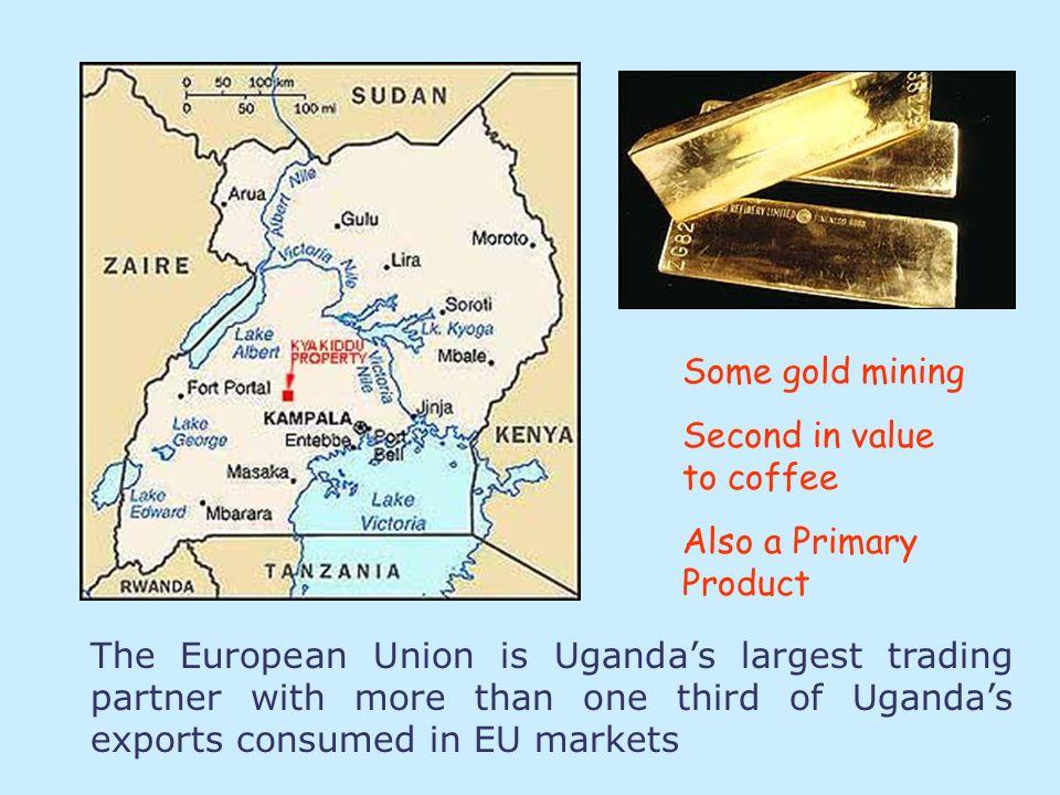 Uganda produces Primary Products coffee tea cotton tobacco