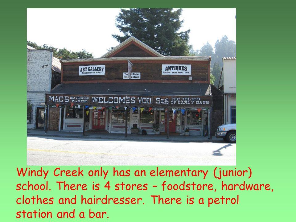 Windy Creek only has an elementary (junior) school.