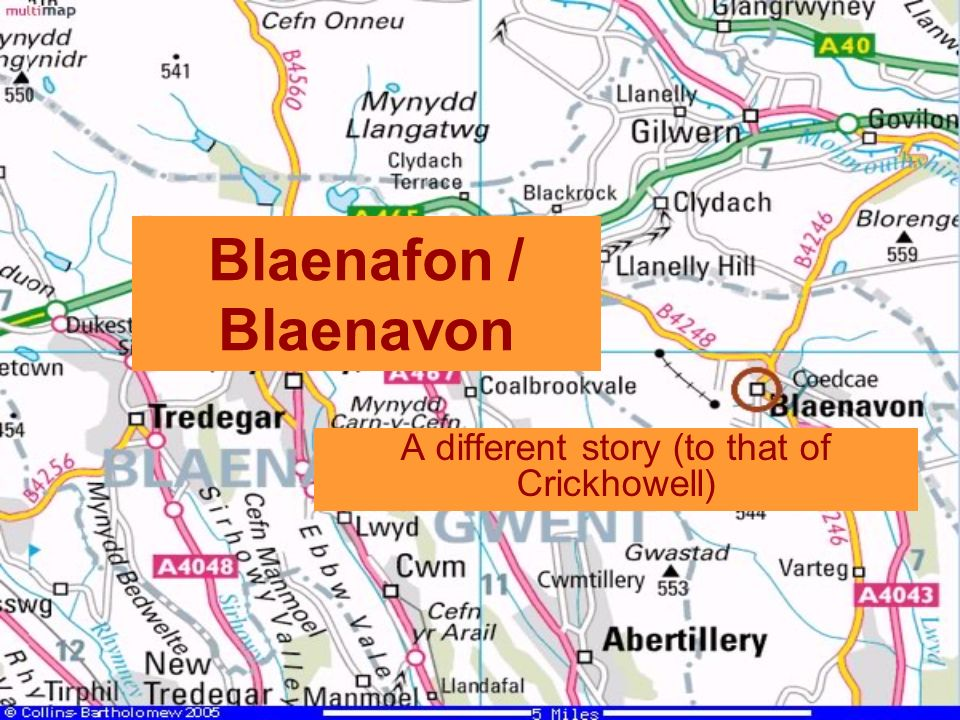 Blaenafon / Blaenavon A different story (to that of Crickhowell)