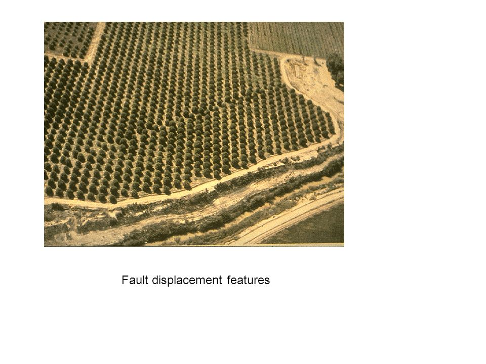 Fault displacement features