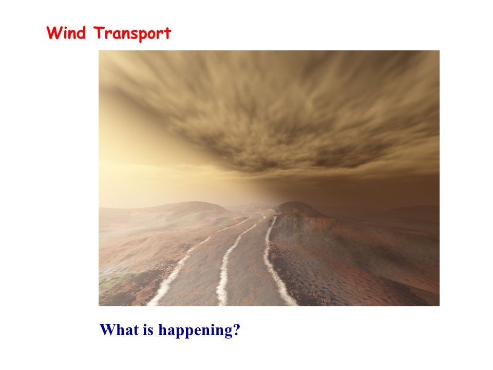 Wind Transport What is happening?